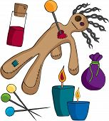 foto of voodoo  - Voodoo Doll and accessories for your print and web projects - JPG