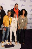 Will Smith, Jada Pinkett Smith, Jaden Smith and Willow Smith at the