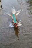 Local longtail boat in the canal