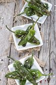 picture of pimiento  - Fresh made portion of Pimientos de Padron - JPG