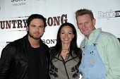 Chuck Wicks and Rory Lee Feek and Joey Martin Feek at the