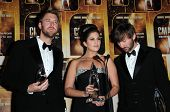 Lady Antebellum at the 44th Annual CMA Awards, Bridgestone Arena, Nashville, TN.  11-10-10
