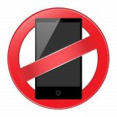 mobile phone forbidden