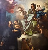 Paintings in San Lorenzo Maggiore church, Naples, Italy
