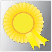 Yellow rosette badge