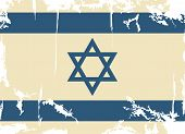 Israeli grunge flag. Vector illustration