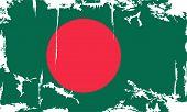 Bangladesh grunge flag. Vector illustration