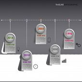 Info graphic time line colored striped template