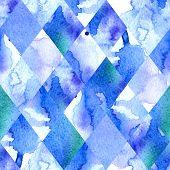 Watercolor geometric background