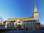 picture of tromso  - Church in Tromso at a day, Norway
