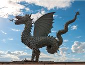 Statue Of Dragon - Symbol Of The City Kazan. Zilant Is A Winged Snake From Tatar Folklore And The Of