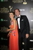 BEVERLY HILLS - JUN 22: Amelia Heinle, Peter Bergman at The 41st Annual Daytime Emmy Awards at The B