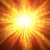 Abstract Sunburst ardent background.