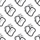 Soap seamless pattern