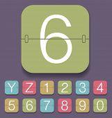Vector set of mechanical scoreboard alphabet