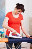 Housekeeper Ironing Shirt