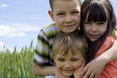 stock photo of happy kids  - Happy kids - JPG
