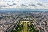 View Of Paris, The Champ De Mars From The Eiffel Tower