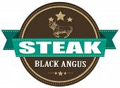 Black Angus Steak Stamp