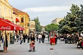 eople walking around in Bitola
