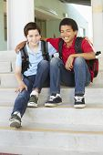 foto of pre-teen boy  - Pre teen boys at school - JPG