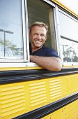 stock photo of bus driver  - School bus driver - JPG