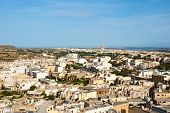 pic of gozo  - View over Victoria Rabat biggest city of Gozo island Malta - JPG
