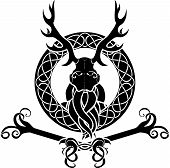 Druid symbol with antlers