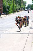 Cyclist Chase Group Races Downhill At Stillwater