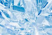 pic of refraction  - abstract blue background of crystal refractions - JPG