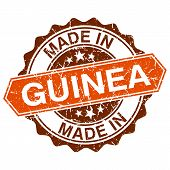 Made In Guinea Vintage Stamp Isolated On White Background