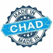 Made In Chad Vintage Stamp Isolated On White Background