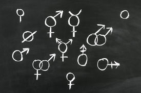 stock photo of intersex  - The different gender - JPG