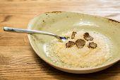 Italian risotto with black truffle
