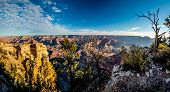 High Resolution Panoramic View Of The Magnifice of the Grand Canyon In Arizona