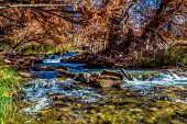 foto of guadalupe  - Waterfalls and Beautiful Fall Foliage Surrounding the Guadalupe River Texas - JPG
