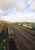 Freight Train With Color Cargo