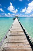 Long pier in the day time, Indian ocean
