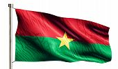 Burkina Faso National Flag Isolated 3D White Background