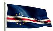 Cape Verde National Flag Isolated 3D White Background