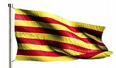 Catalonia National Flag Isolated 3D White Background