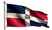 Dominican National Flag Isolated 3D White Background