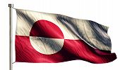 Greenland National Flag Isolated 3D White Background