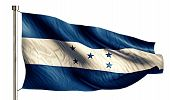 Honduras National Flag Isolated 3D White Background