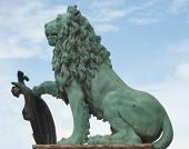 foto of munich residence  - A Lion Statue as Symbol of German Culture - JPG