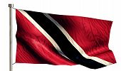 Trinidad And Tobago National Flag Isolated 3D White Background