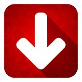 download arrow flat icon, christmas button, arrow sign