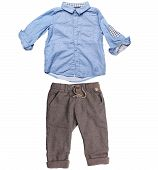 elegant shirt and trousers for baby boy