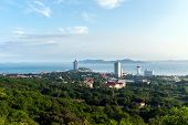 Постер, плакат: Qingdao or Tsingtao China beautiful seaside scenery