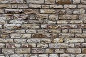 pic of clos  - Detail and clos up of a irregular stone wall - JPG
